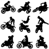 Set of motorcycle — Stock Vector