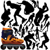 Rollerblade set — Stock Vector