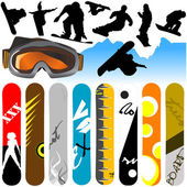 Snowboard set — Stock Vector