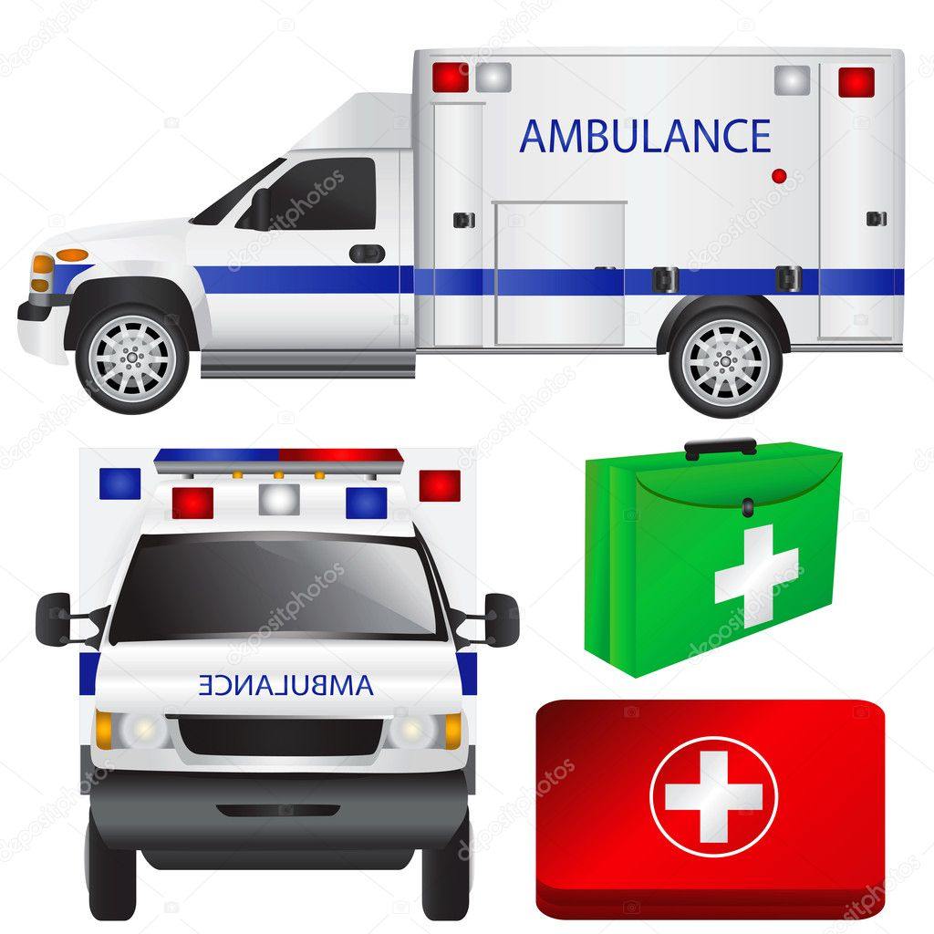 Ambulance and equipments vector  Stock Vector #8804986