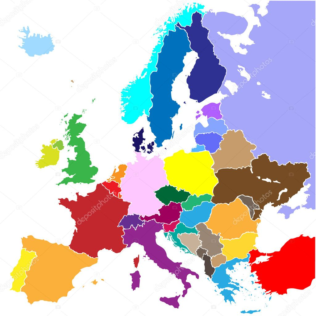 vector europe map