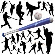 raccolta di vector baseball — Vettoriale Stock #8938909