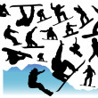 Collection of snowboard vector — Stock Vector