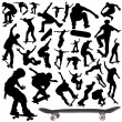 Collection of skateboard vector — Stock Vector #8938988