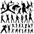 Dancing and party vector - Stock Vector