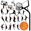 Stock Vector: Basketball and backboard vector