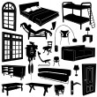 Stock Vector: Home decoration and furniture vector