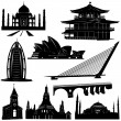 Urban architecture building set — Stock Vector