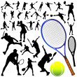 Collection of tennis vector — Stock Vector #8939485