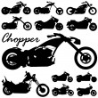 Chopper motorcycle vector — Stock Vector