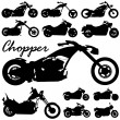Chopper motorcycle vector — Stock Vector #8939552