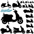 Stock Vector: Scooter motorcycle vector