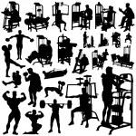 Fitness men vector — Stock Vector