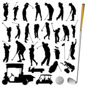 Collection of golf vector — Stock Vector