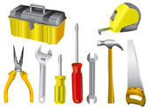 Collection of work tool vector — Stok Vektör