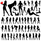 Collection of sexy woman vector — Stock Vector