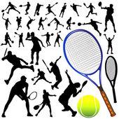 Collection of tennis vector — Stock Vector