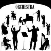 Orchestra musician vector — Stock Vector