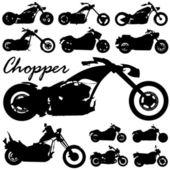 Chopper motorcycle vector — Stock Vector
