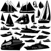 Collection of sea tranportation vector — Stock Vector