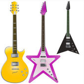 Guitars vector — Stock Vector