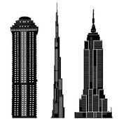 Skyscraper buildings vector — Stock Vector
