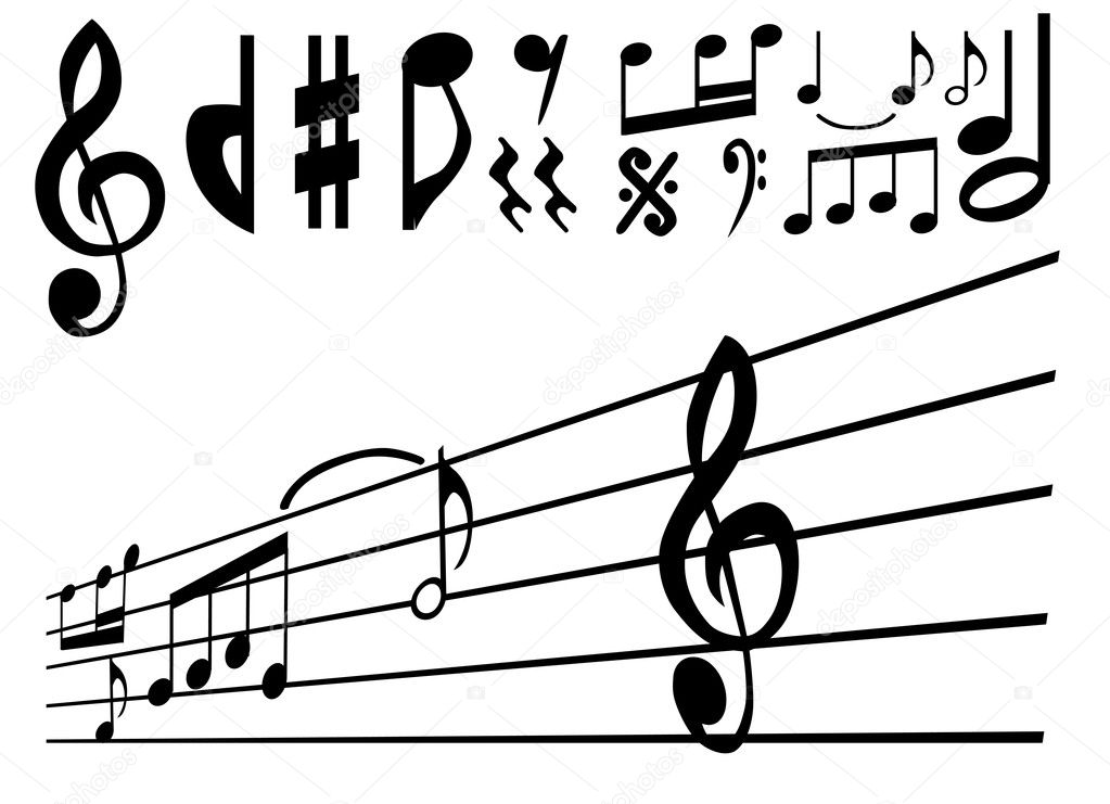 Music note and sign vector set  Stock Vector #8939156