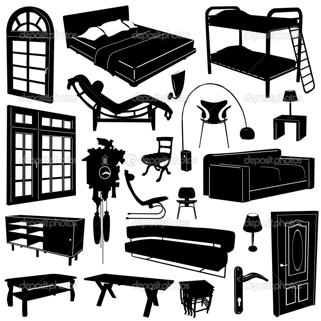 Home Decoration And Furniture Vector Stock Vector Bogalo 8939314