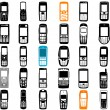 Collection of mobile phone vector — Stock Vector