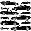 Sport  car set — Stockvectorbeeld
