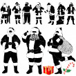 Santa claus - christmas clothes detail — Stock Vector