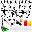 Soccer vector and equipments — Stock Vector