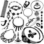 Jewelry for women vector — Stock Vector