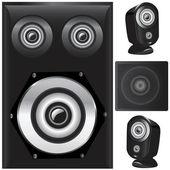 Speaker details vector — Stock Vector