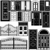 Door vector — Vector de stock