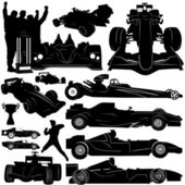 Formula and race car vector — Stok Vektör