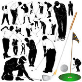 Golf set — Stock Vector