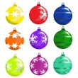 Stock Vector: Christmas tree ball