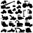 Construction machine set — Stock Vector