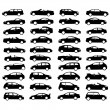 Collection of car — Stock Vector #9032656