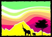 Fantastic nature scene — Cтоковый вектор