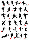 Collection of soccer — Stock Vector