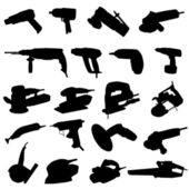Collection of power tool — Stockvector