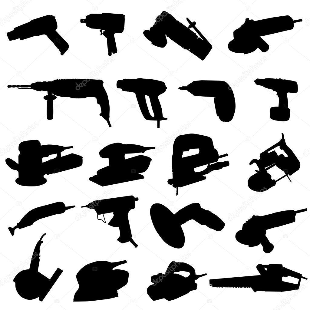 Collection of power tool vector  Stock Vector #9032624