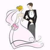 Wedding illustration — Stock Vector