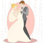 Wedding design — 图库矢量图片