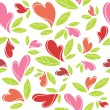 装飾的な心のパターン — ストックベクタ