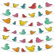 Stockvector : Decorative pattern with birds