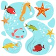 Sea life design — Stock Vector