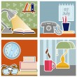 Vector de stock : Office design